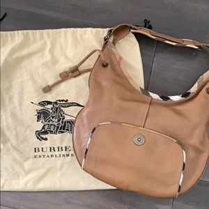 Burberry leather hobo bag brown